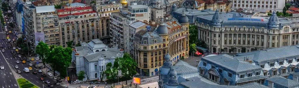 Center of Bucharest in the morning
