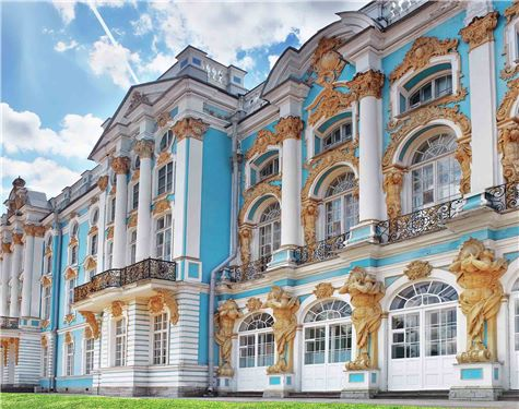 Katherine's Palace hall in Tsarskoe Selo (Pushkin)