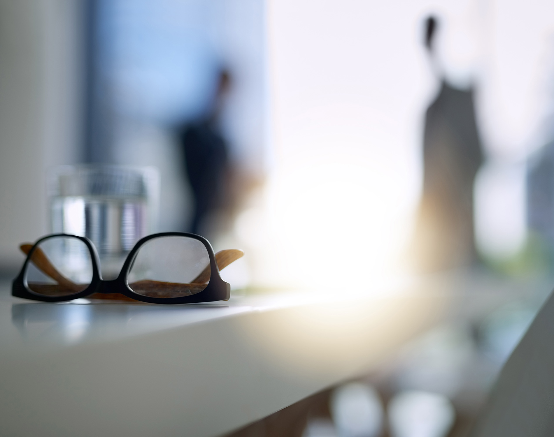 Glasses on a table