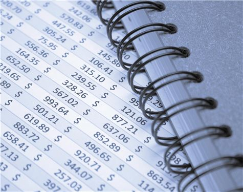 Financial data and notepad