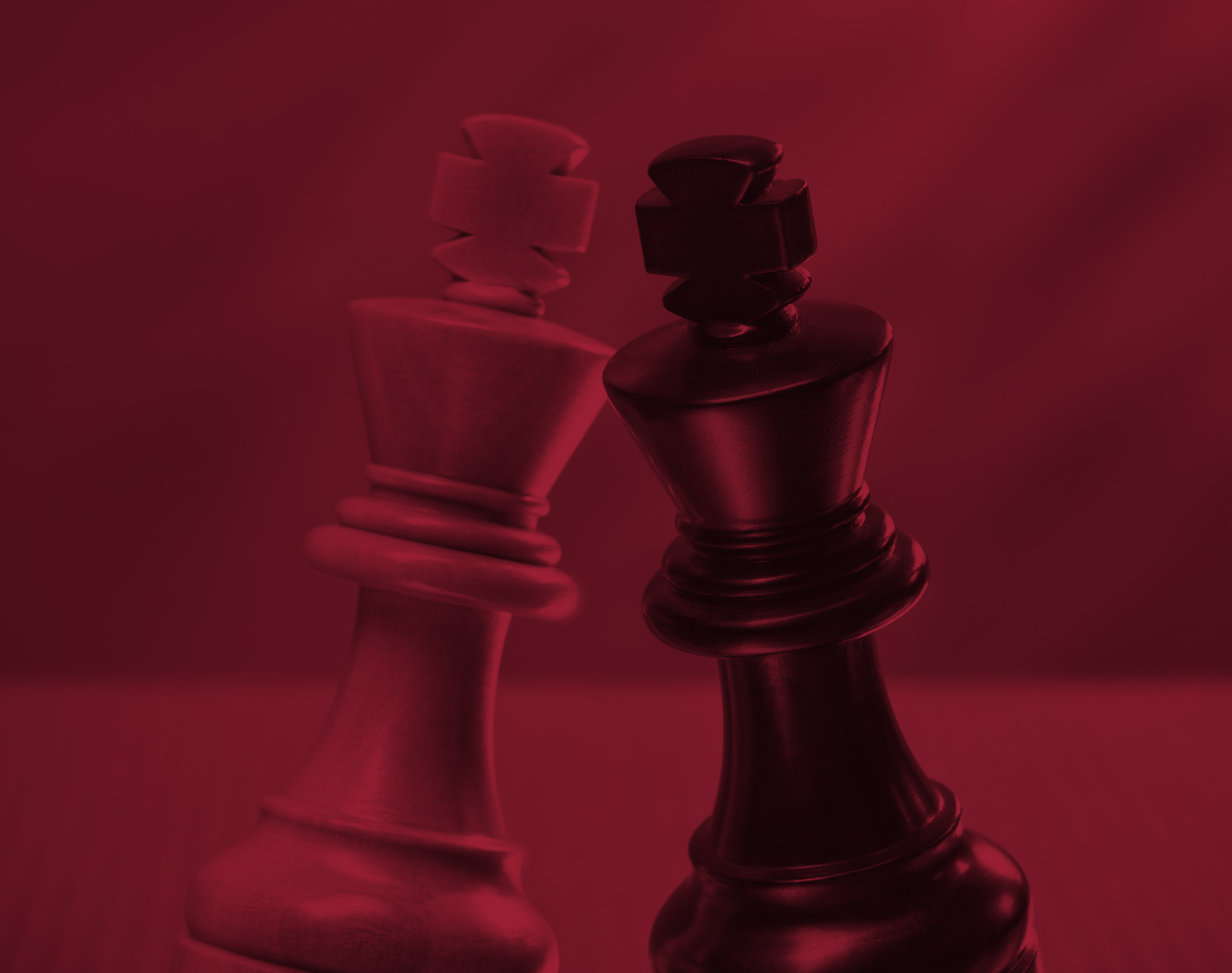 Chess Pieces with a red overlay