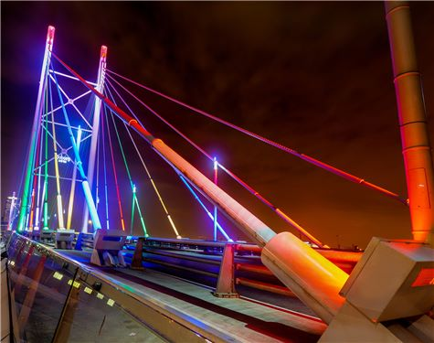 Nelson Mandela Bridge in Johannesburg