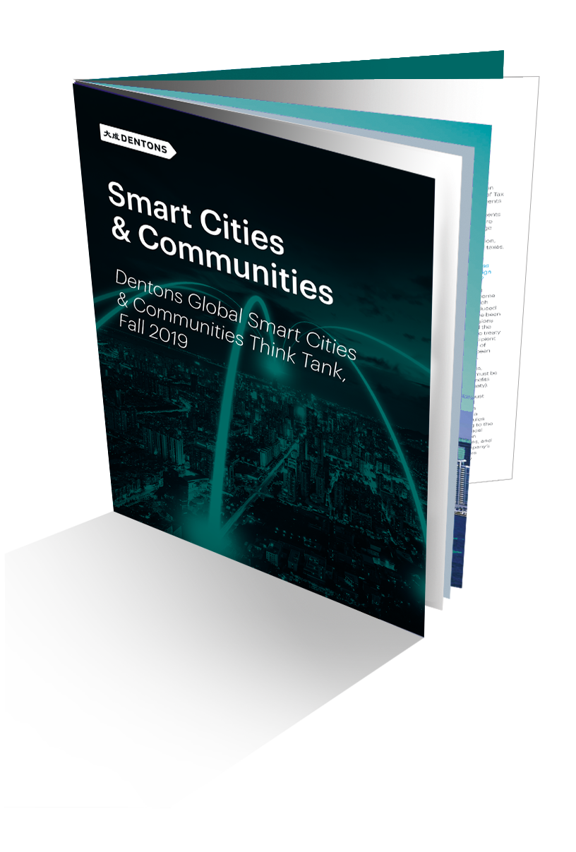 Dentons Global Smart Cities & Communities Think Tank, Fall 2019