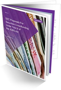 SEC Proposals For Securities Crowdfunding Under Title III of the JOBS Act Whitepaper