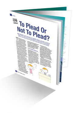 To plead or not to plead booklet image