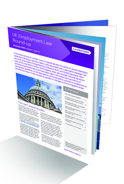 UK Employment Law Round-Up November 2016