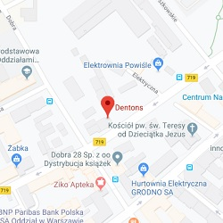 Warsaw office location map