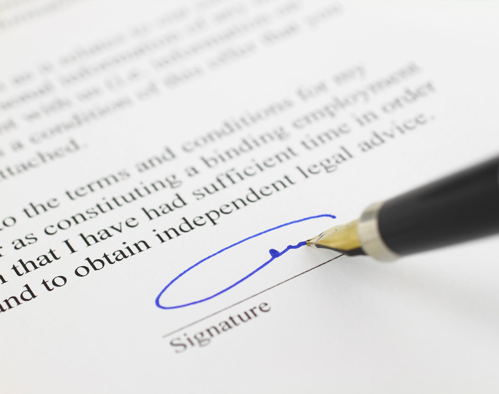 Contract with signature