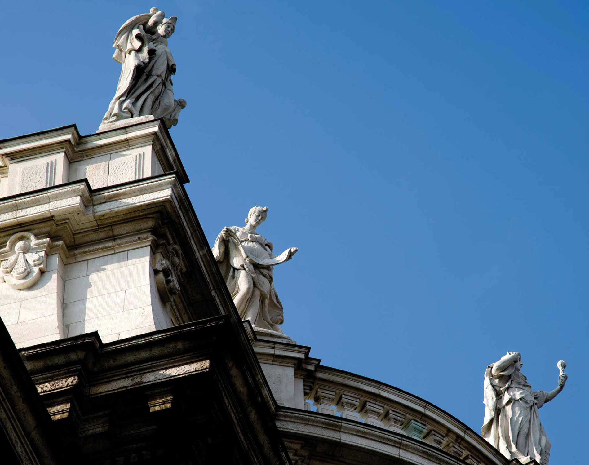 Statues on a building