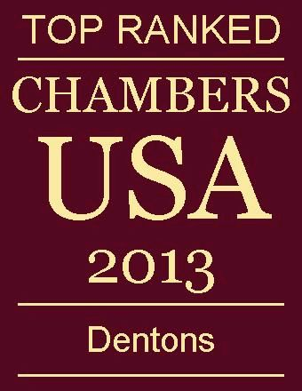 Top Ranked - Chambers 2013 - Dentons